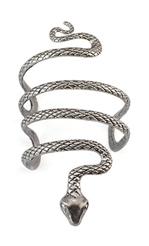 reif, Silber, Tiermotiv: Schlange, offene Helix-Form für Damen, Partyschmuck ()