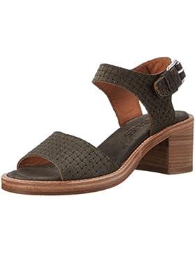 Shabbies Amsterdam Damen Shabbies Sandale mit Blockabsatz