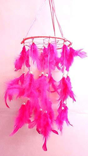 Design Traumfänger, zum Aufhängen, für positive Träume geeignet, Pink ()
