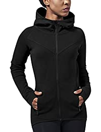 Urban Classics Damen Kapuzenpullover Ladies Athletic Interlock Zip Hoody