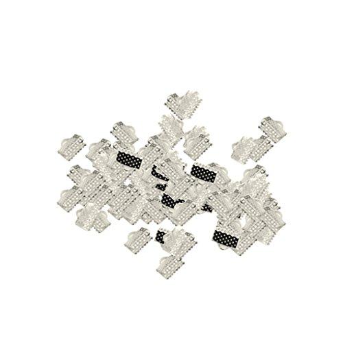 sharplace 50Stück über Clip Spitze Kordel Crimp Enden Bead Gap für Schmuckherstellung Handwerk DIY Ergebnisse