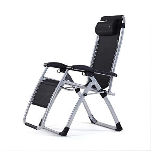 ecliner-faltender Lounge-Stuhl-liegender Patio-Stuhl im Freien 350LBS Kapazität, 1 Satz (Farbe : 1 Pack) ()
