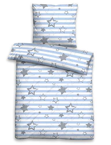 biberna Kinder-Bettwäsche Sterne Biber