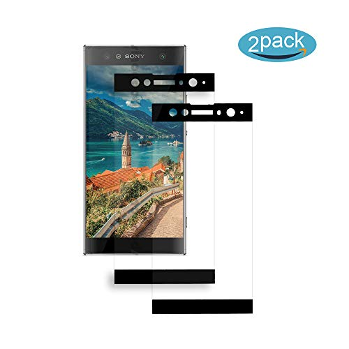 [2 Pack] Für Sony Xperia XA2 Ultra Panzerglas Schutzfolie (Schwarz), Bildschirmschutzglas Panzerfolie für Sony Xperia XA2 Ultra Schutzglas Folie [Ultra-klar] [9H Härte] [Kristallklar] [Bubble Free]