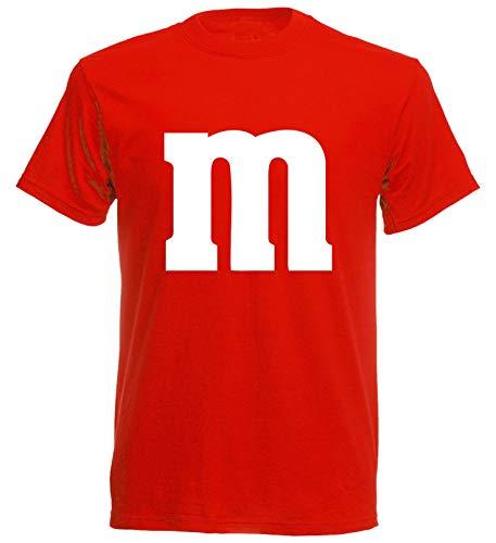 aprom T-Shirt Karneval M M Kostüm Gruppenkostüm Fasching JGA Party MM (2XL, Rot)