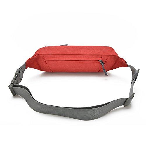 Gürteltasche Laufgürtel Hüfttasche, Freeknight Wasserbeständige Taille Tasche für Reisen Wandern Skaten Radfahren Gehen Passen Telefone bis zu 6,5 '' Lebenszeit Ersatzgarantie Rot
