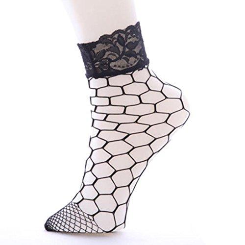 Hohe Knöchel Rüsche Fischnetz Socken Bluestercool Frauen Mesh Lace Fish Net Kurze Socken (Bereits In Ihrem Kostüme Kleiderschrank)