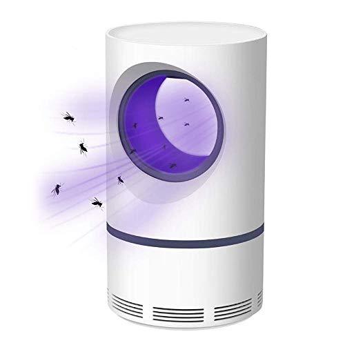 Hamkaw Antimosquitos, USB UV Mosquito Lampara, Trampa Eléctricos, Exterminador De Insectos para Interiores Y Camping, Blanco, pequeña, 430