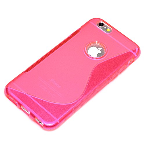 "deinPhone Apple iPhone 6 6S (4.7"") SILIKON CASE Hülle deinPhone Eule S-line Pink"