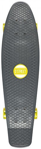 D Street Grande Cruiser Skateboard Charcoal/Yellow 28