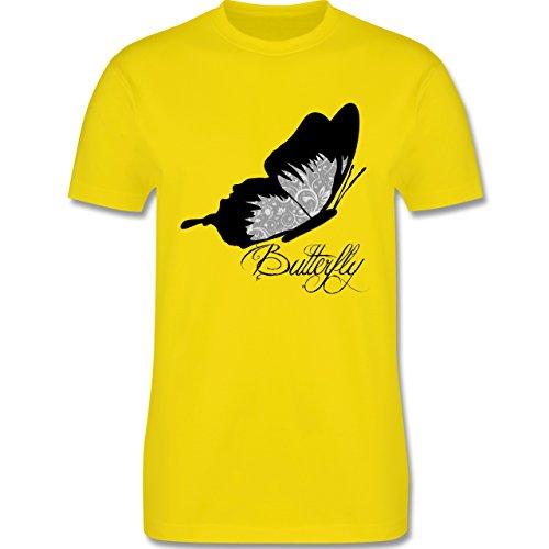 Statement Shirts - Butterfly Schmetterling - Herren Premium T-Shirt Lemon Gelb