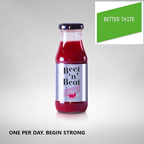 Beet'n' Beat Energy Drink Succo di Barbabietola Organic con Mela Carota Limone succo 12 x 200 ml .2400 ml.