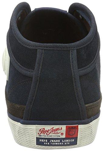 Pepe Jeans London Industry Half, Baskets mode homme Bleu (585Marine)