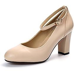 Mode high-heel/ chunky Heels Schuhe Frauen/Modeschuhe/Eine SchaltflächeKopf leichte Schuhe-A Fußlänge=23.3CM(9.2Inch)