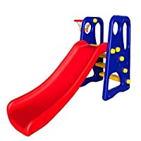 RBWTOYS Indoor/outdoor 2 in 1 Play Slide with Basketball game Multi color slide for Kids Activity Best Slide rbwtoy16343.