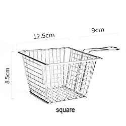 large square : Frying Basket Food Basket Stainless Steel Fch Fries Fried Chicken Restaurant Kitchen Accessories
