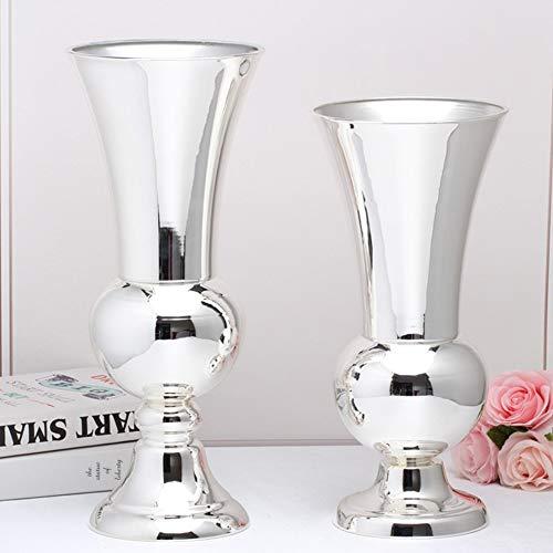 Heimtextilien Home Wohnzimmer Tisch Bankett Hochzeit Hotel Dekoration Metall Versilbert Europäische Vase Wohnaccessoires