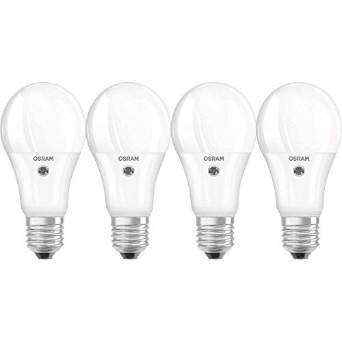 Osram LED Star Sensor Classic A E27 Bli, Smerigliata, 60 W, 4 unità