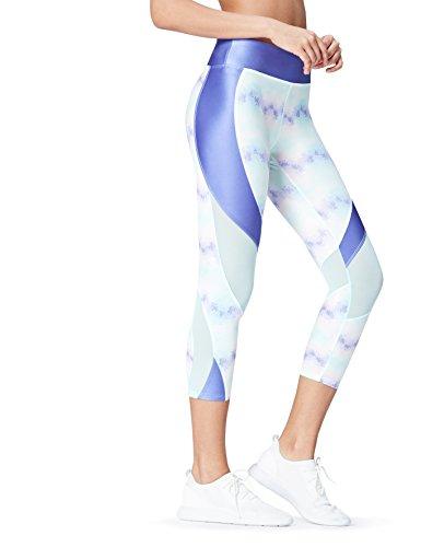 Activewear Sport Leggings für Damen, Blau (Blue), 40 (Herstellergröße: Large)