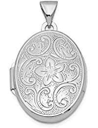 ICE CARATS 925 Sterling Silver Oval Floral Photo Pendant Charm Locket Chain Necklace That Holds Pictures Fine Jewelry Ideal Gifts For Women Gift Set From Heart