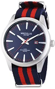 Mike Ellis New York Herren-Armbanduhr XL Analog Quarz Kunstleder 17993/3