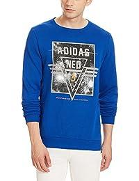 adidas Neo Men's Round Neck Cotton Sweatshirt