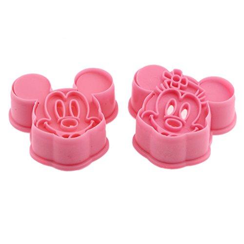 DeColorDulce Mickey Minnie Mouse Keksausstecher und Kugelablage Keks ABS, Silber, 25x 10x 3cm