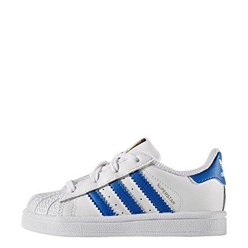 Zapatillas adidas - Superstar I blanco/azul/blanco talla: 20