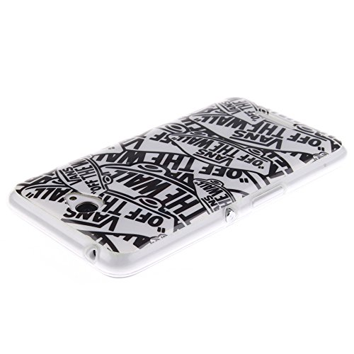 Sony Xperia E4 hülle MCHSHOP Ultra Slim Skin Gel TPU hülle weiche Silicone Silikon Schutzhülle Case für Sony Xperia E4 - 1 Kostenlose Stylus (Vans von der wand (Vans off the wall)) Vans von der wand (Vans off the wall)