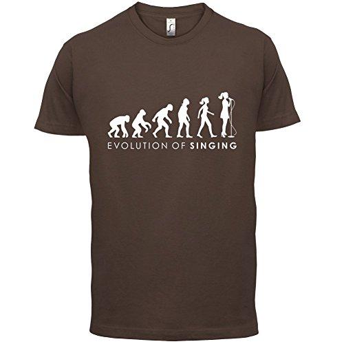 Evolution of Woman - Singen - Herren T-Shirt - 13 Farben Schokobraun
