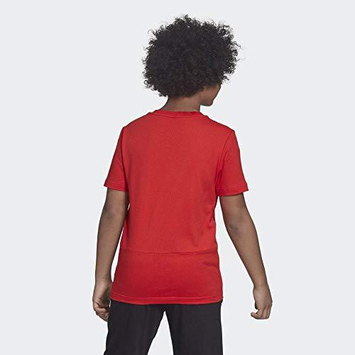 adidas Jungen YB SID Hemd, Mehrfarbig (rojact/Weiß), 176