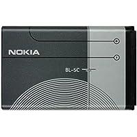 Nokia BL-5C Batteria Originale agli Ioni di Litio, 1020 mAh, Grigio