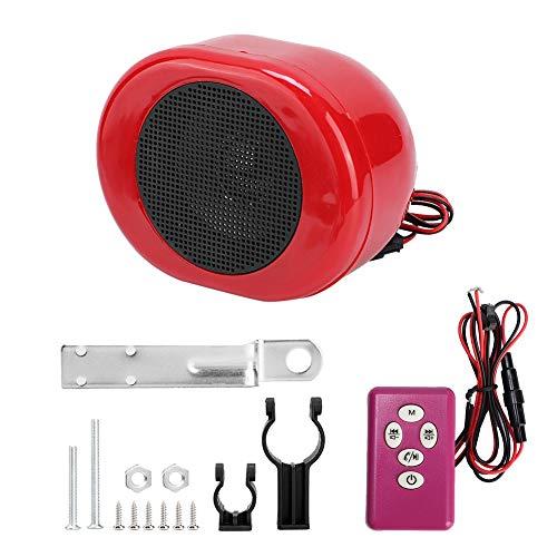 Qiilu Motorrad Lautsprecher, Motorrad Alarm Sound System Wasserdicht Bluetooth MP3 Musik Audio Player 24-86V