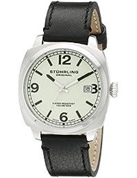 Stuhrling Original 451.331566 - Reloj de cuarzo para hombre, con correa de cuero, color negro