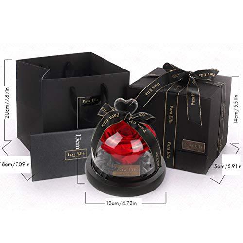Koowaa rose con scritta never withered, fatte a mano, con confezione regalo per san valentino, festa della mamma, natale, anniversario, compleanno, festa del ringraziamento