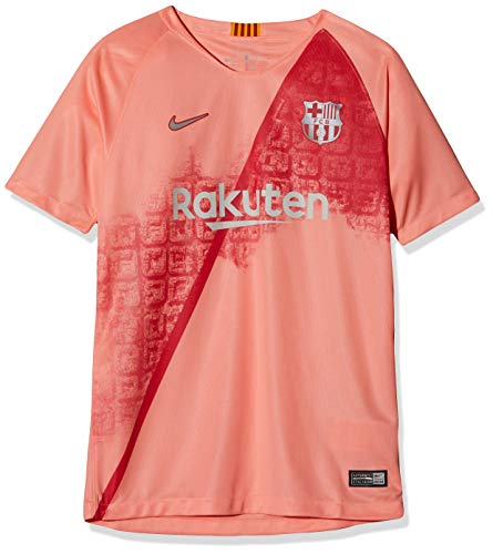 Nike FCB Y NK BRT STAD JSY SS 3R T-Shirt, Unisex niños, lt Atomic Pink/Silver, S