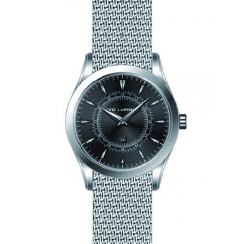Ted Lapidus - 5126203 - Montre Homme - Quartz Analogique - Cadran Gris - Bracelet Autre Gris