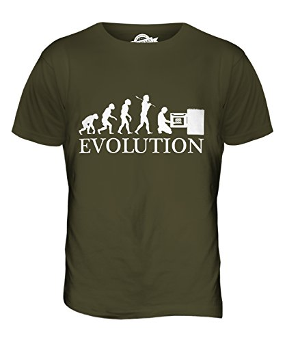 CandyMix Bäcker Evolution Des Menschen Herren T Shirt Khaki Grün