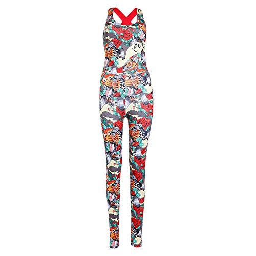 Overall Damen Knochen Skeleton Halloween Kostüm Bodysuit Anzug Karneval Fasching ()