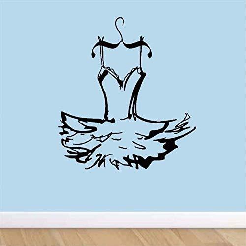 leber Kleid Ballerina Wand Tanz Kostüm Aufkleber Vinyl Aufkleber Dekor Hause Mädchen Zimmer Schlafzimmer Wohnzimmer Design Kunst Wandbilder 57X57 Cm ()
