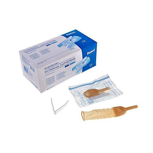 Romed Urinalkondom externer Katheter Latex verschiedene Größen Menge: 50 Stück (XL (35 mm))