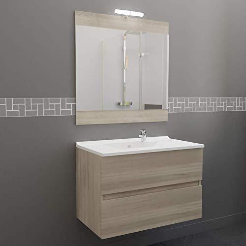 Meuble Salle de Bain Simple Vasque ROSALY 80 - Cambrian Oak