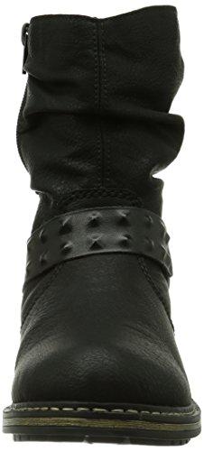 Rieker Z6890-00, Stivali altezza metà polpaccio Donna Nero (Schwarz (schwarz/schwarz/schwarz / 00))