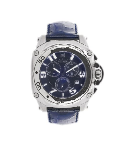 Régnier Variya R1273 Men's Chronograph Blue Leather Strap Watch 2040222