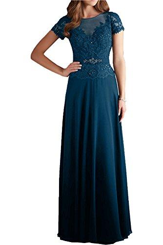 Blaues abendkleid mit spitze