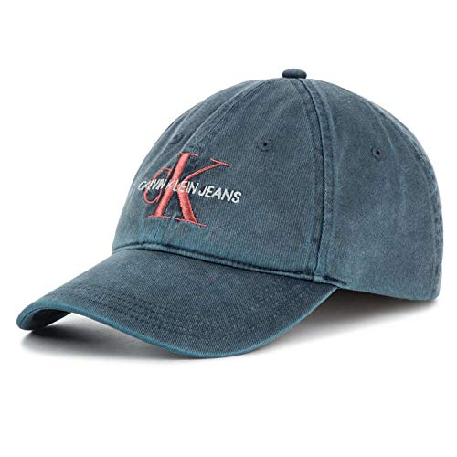 Calvin Klein Herren J Monogram M Baseball Cap, Schwarz (Navy 068), One Size (Herstellergröße:OS) (Ball Cap Navy)