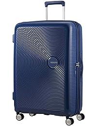 AMERICAN TOURISTER Soundbox - Spinner 77/28 Expandable Equipaje de mano, 77 cm, 97 liters, Azul (Midnight Navy)