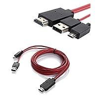 Foseal 6.5 قدم مايكرو USB إلى HDMI كابل MHL إلى HDMI 1080P HDTV كابل محول سلك ل Samsung Galaxy S5, S4, S3, Note 3, Note 2 (ليس لـ Tab 3 7.0, Note 10.1, Note 3 N9008V