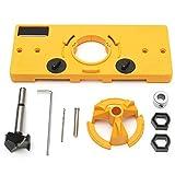 35 mm Scharnier Bohren Jig Guide Bohrschablone holz bearbeitung werkzeuge Bohren Locator Set + 35 mm Forstner Bit