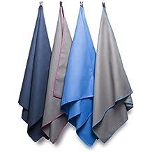 Bahidora Microfaser Handtuch, 50x100cm, 70x130cm oder 2er Set. Mikrofaser Handtuch Set, MikrofaserHandtücher, Reisehandtuch, schnelltrocknendes Handtuch. Inkl. Aufhängeschlaufe & Transportbeutel. Ideal für Sport und Reisen